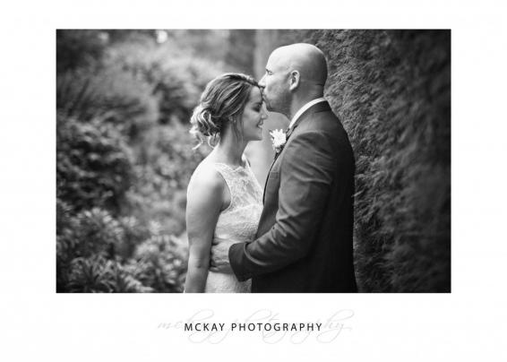 Black & white wedding photo