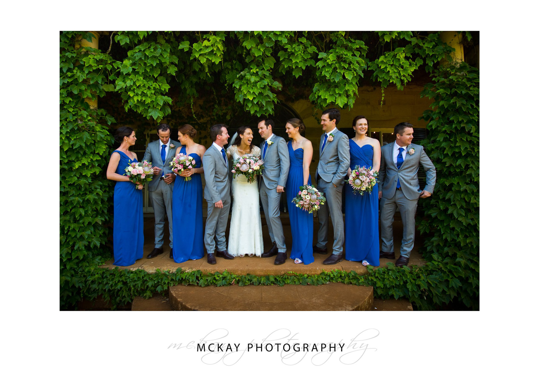bridal party at the homestead bendooley estate