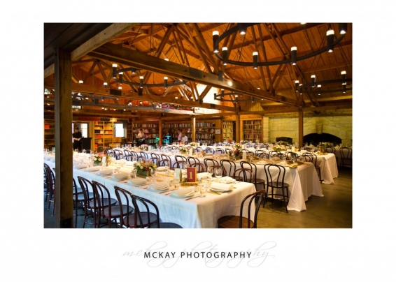 Book Barn at Bendooley Estate wedding room wide photo