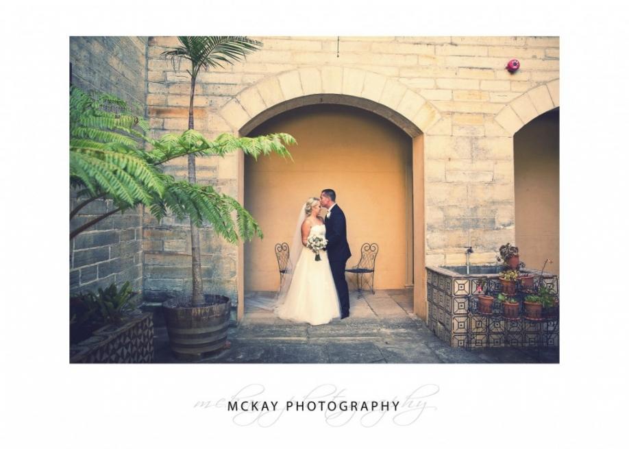 wedding photo at Vaucluse House