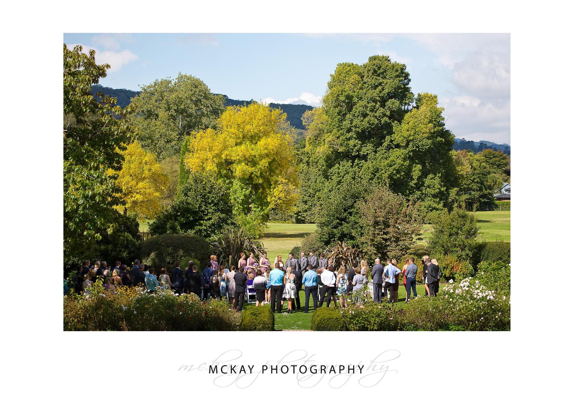 Lawn wedding ceremony at Peppers Craigieburn Bowral