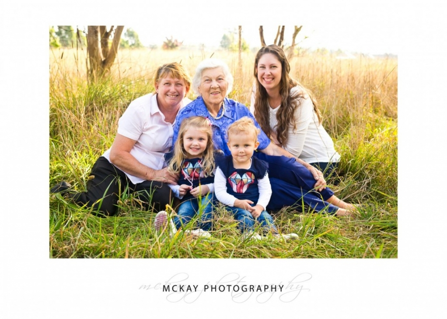 four generations in family Bowral photo