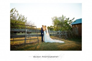 Ashlee & Dan at sunset Belgenny Farm wedding photos