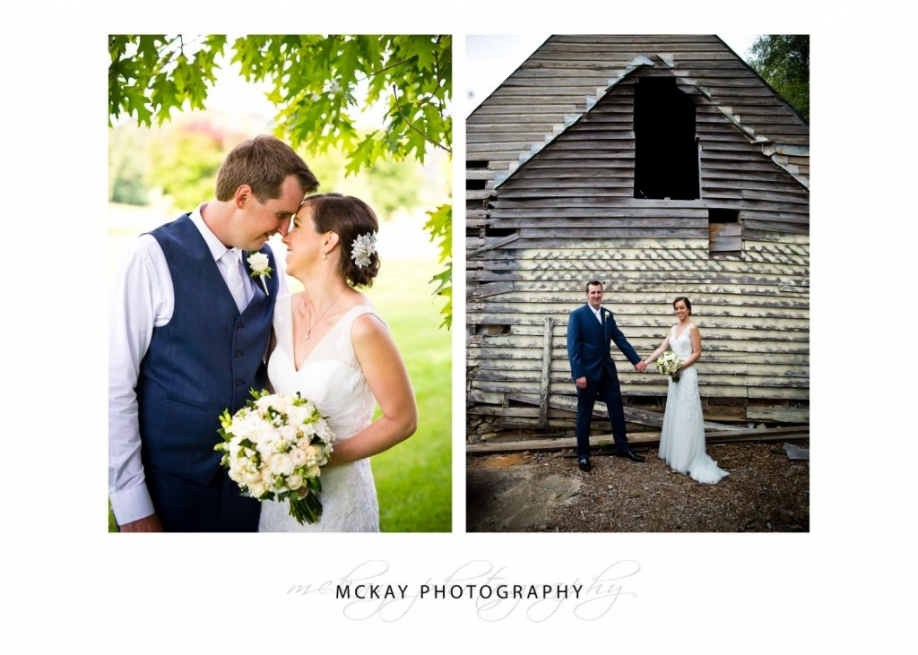 Old barn wedding photo at Peppers Craigieburn Bowral