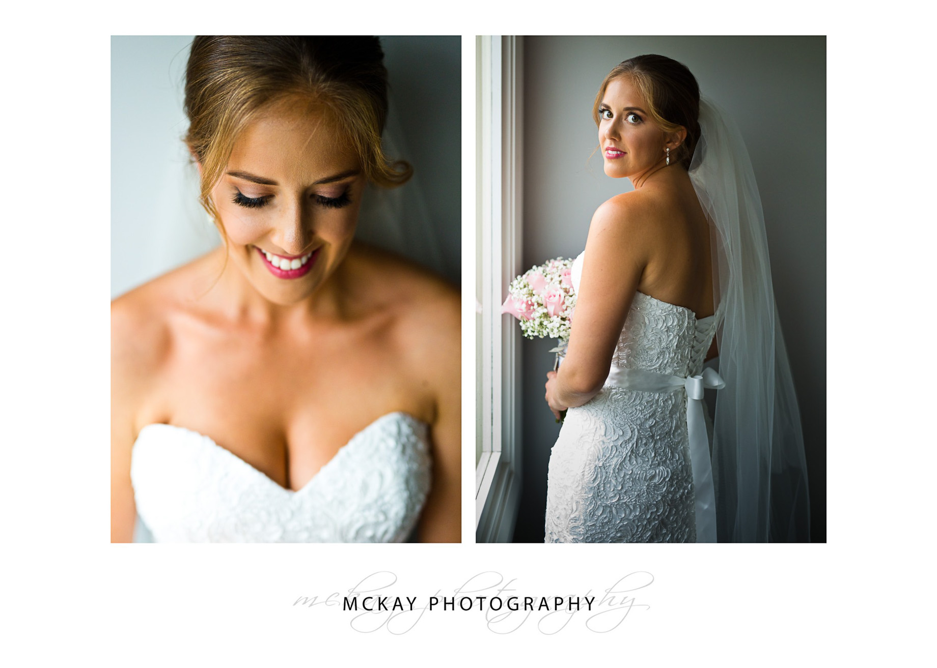 Bride dress and portrait photo at Peppers Craigieburn wedding in Bowral