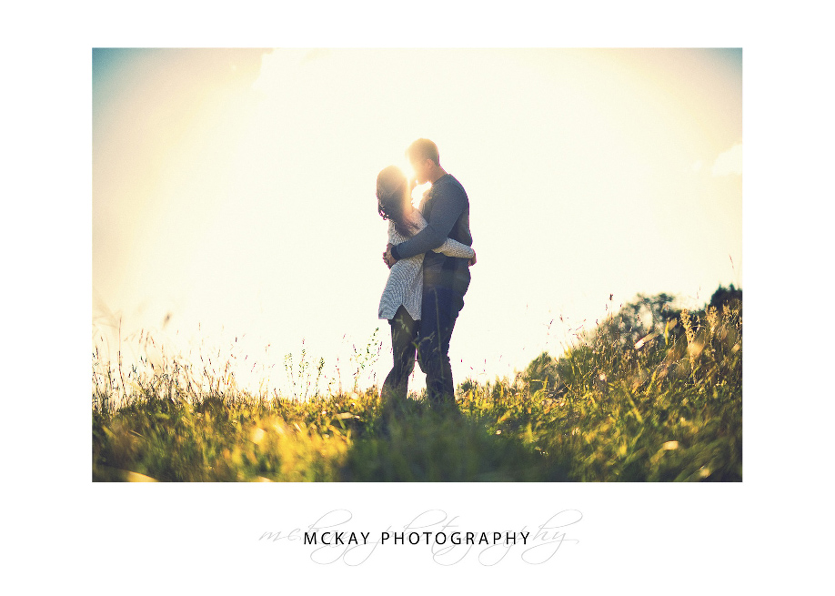 Engagement photo sunset