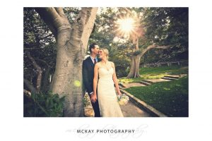 Stunning afternoon light at Bradley's Head wedding photo