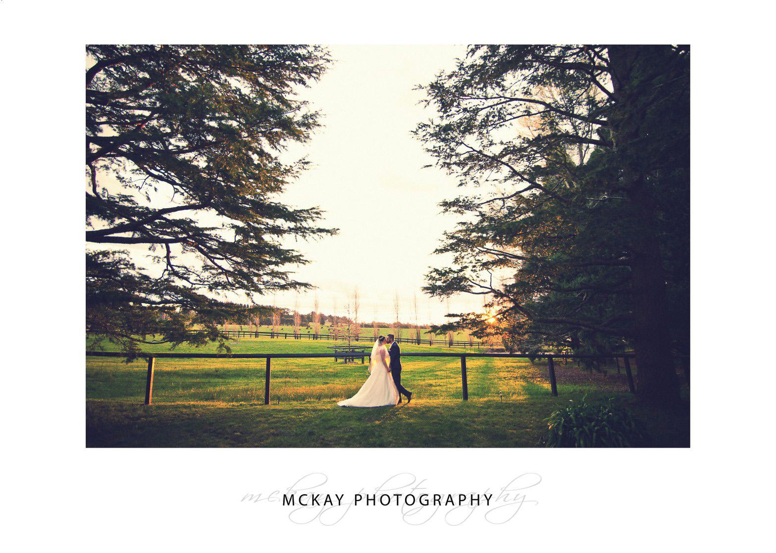 Sunset photos at Bendooley Estate wedding