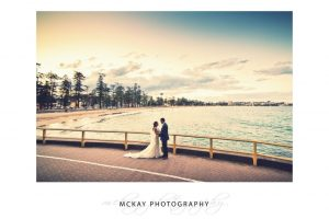 Wedding photography at Manly Point sunset