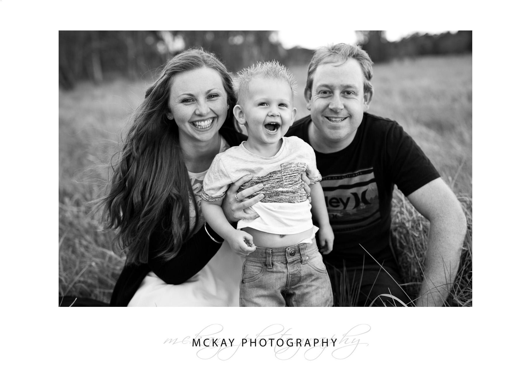 Family photo grass field Bowral