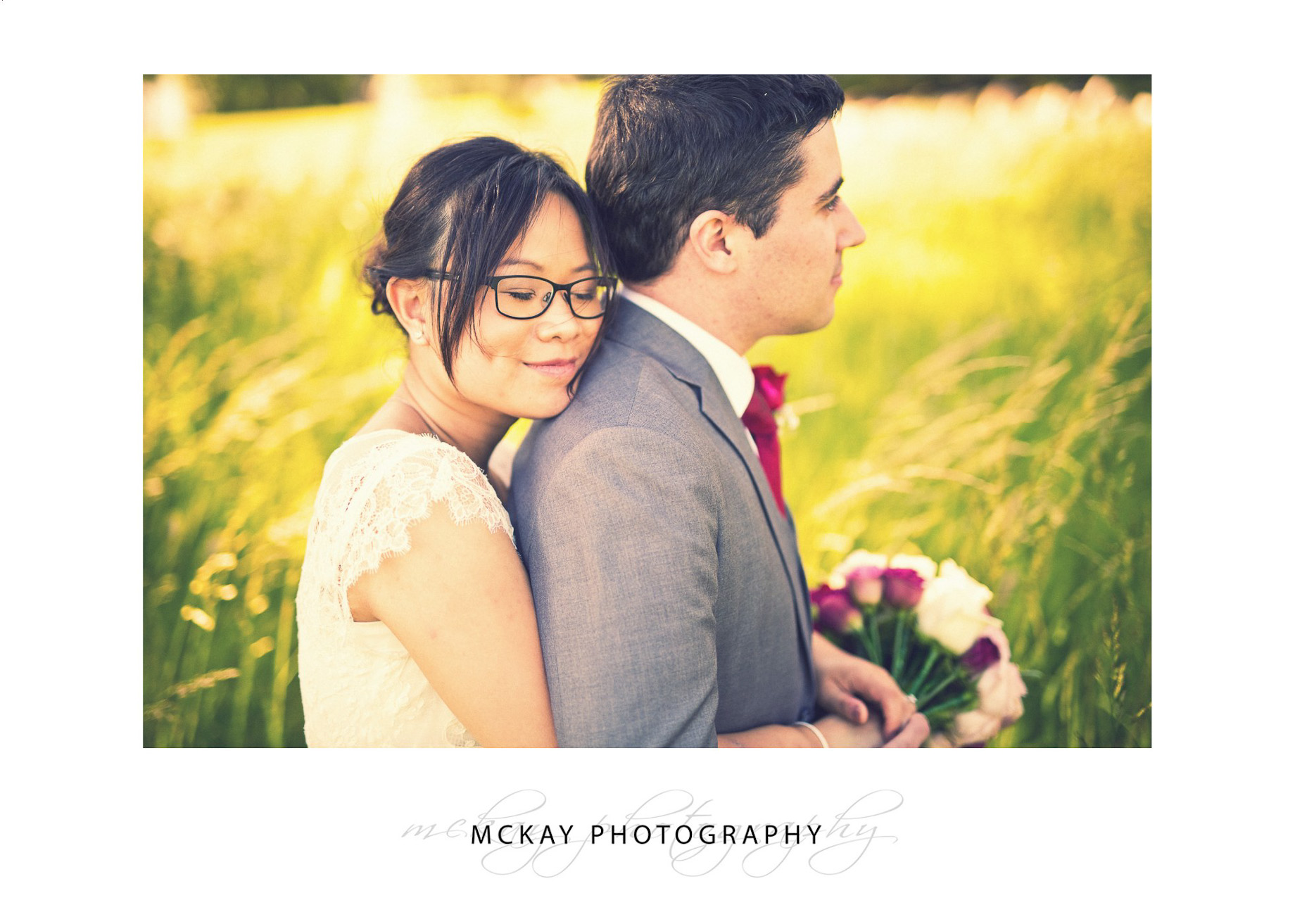 Wedding photography Briars Bowral field grass