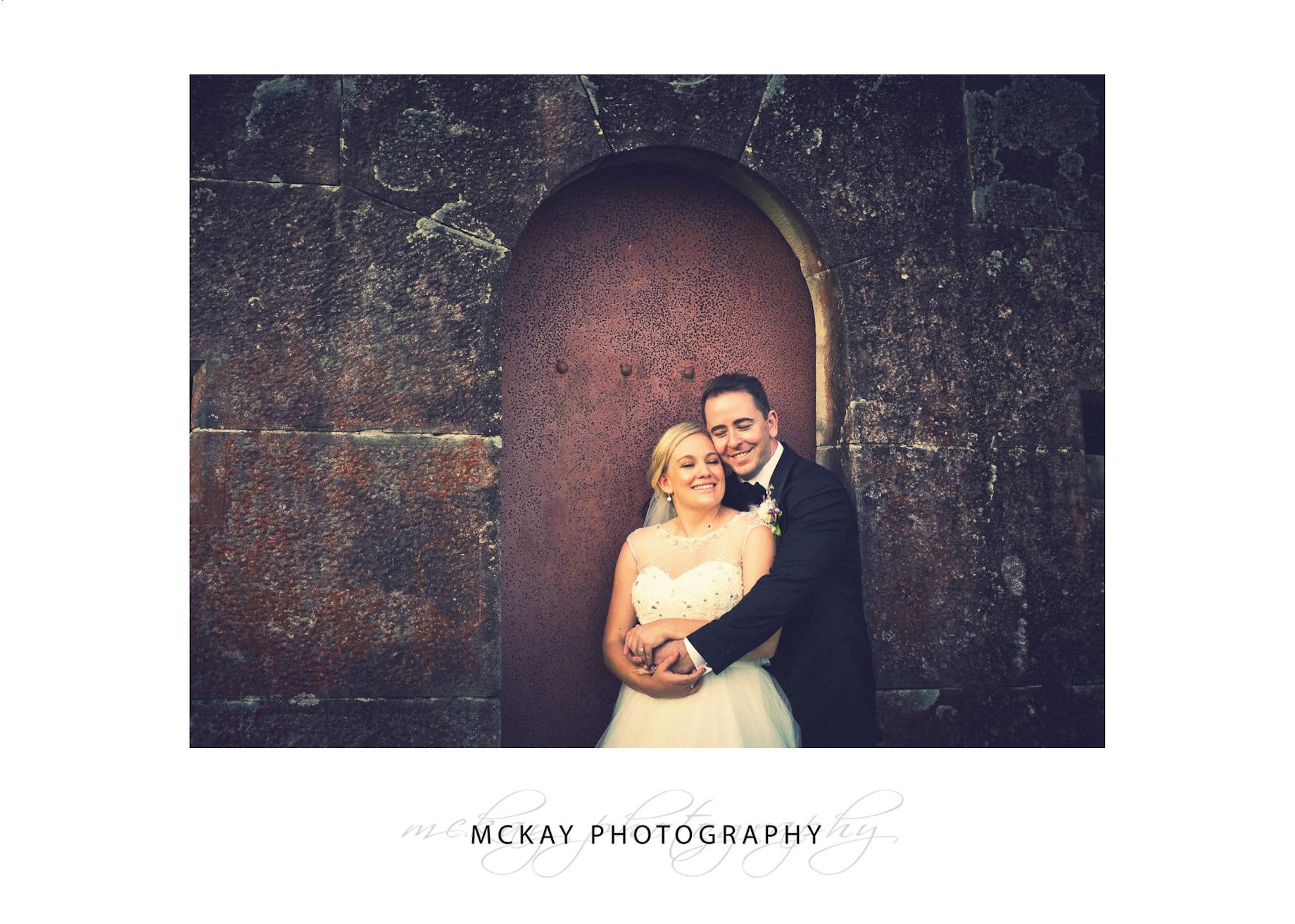 Red door Gunners Barracks wedding photo