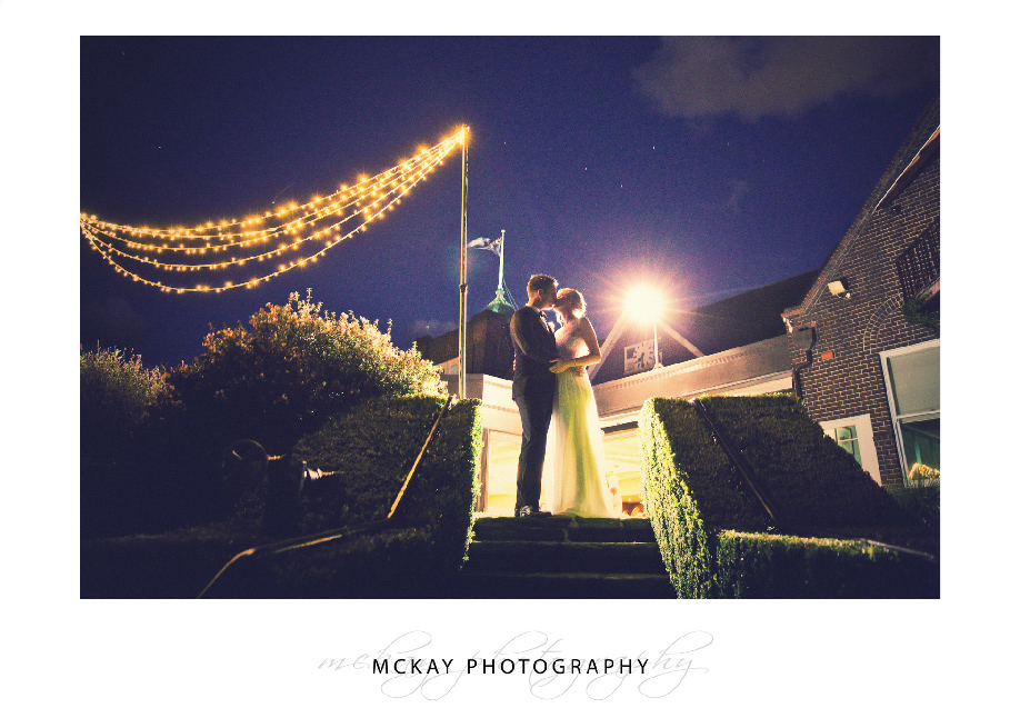 Night shot at wedding Royal Sydney Golf Club