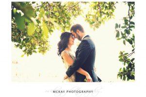 Wedding photo backlit Lavender Bay wedding