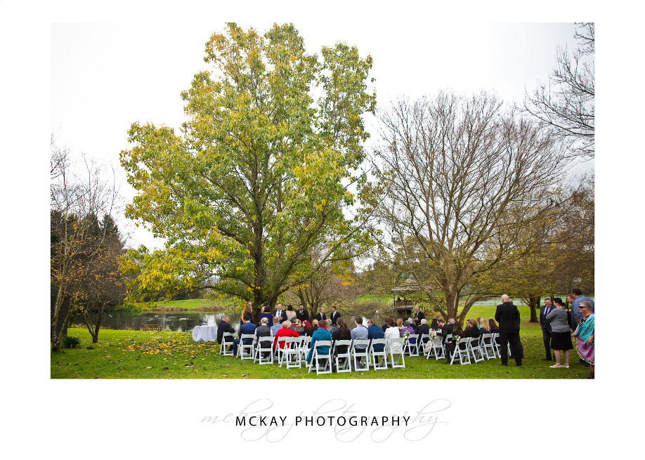 Briars lake ceremony wedding set up
