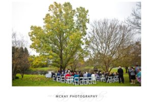 Briars lake ceremony wedding set up