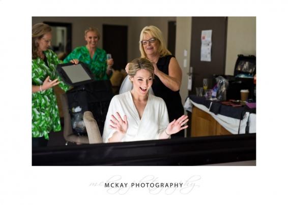 Bride preparations with June Rose make up