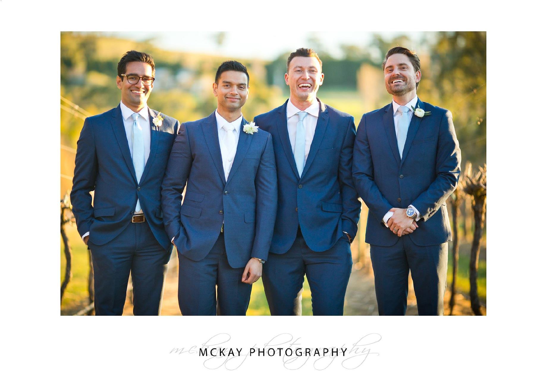 Asanga & groomsmen at CV
