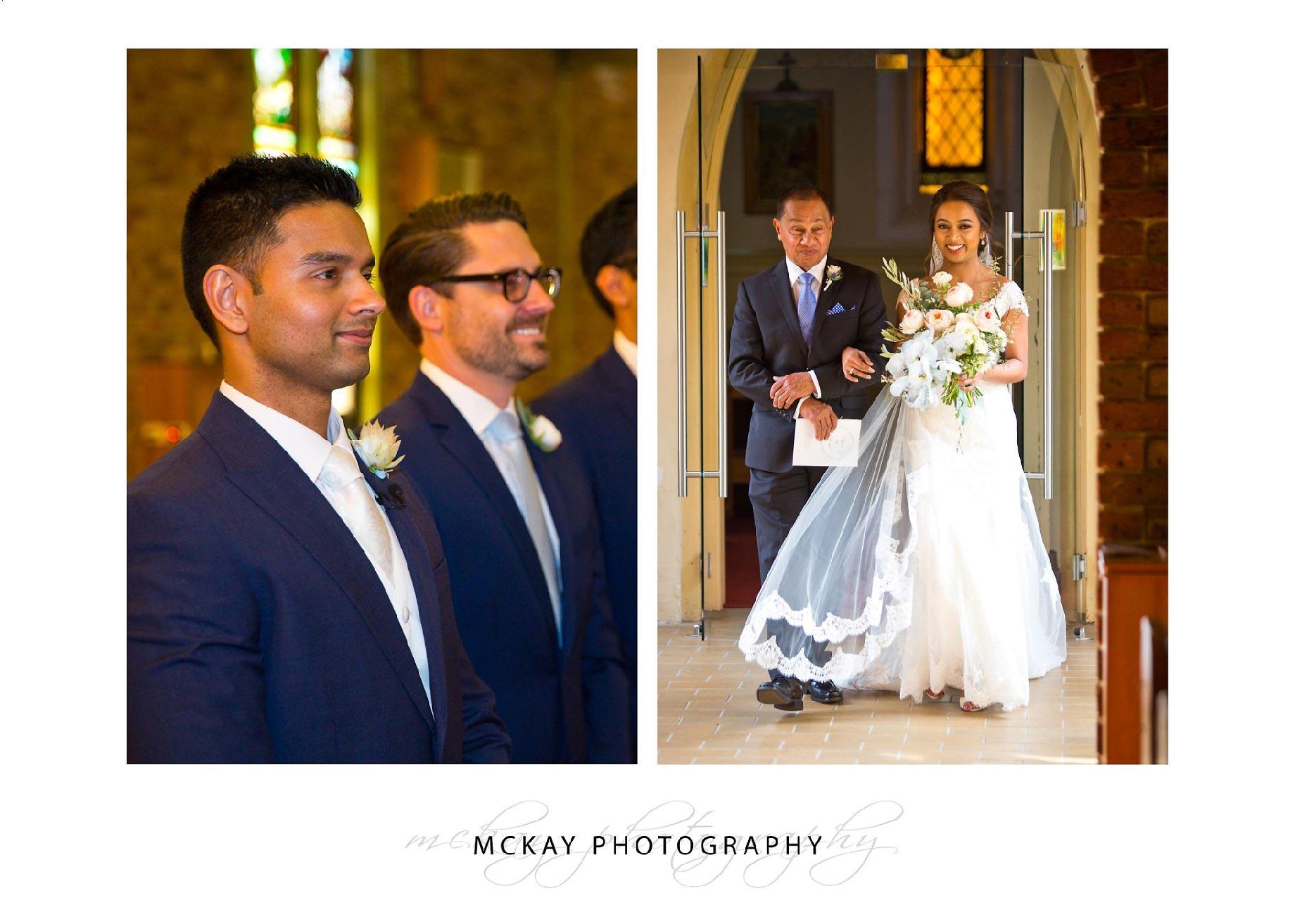 Bride enters church