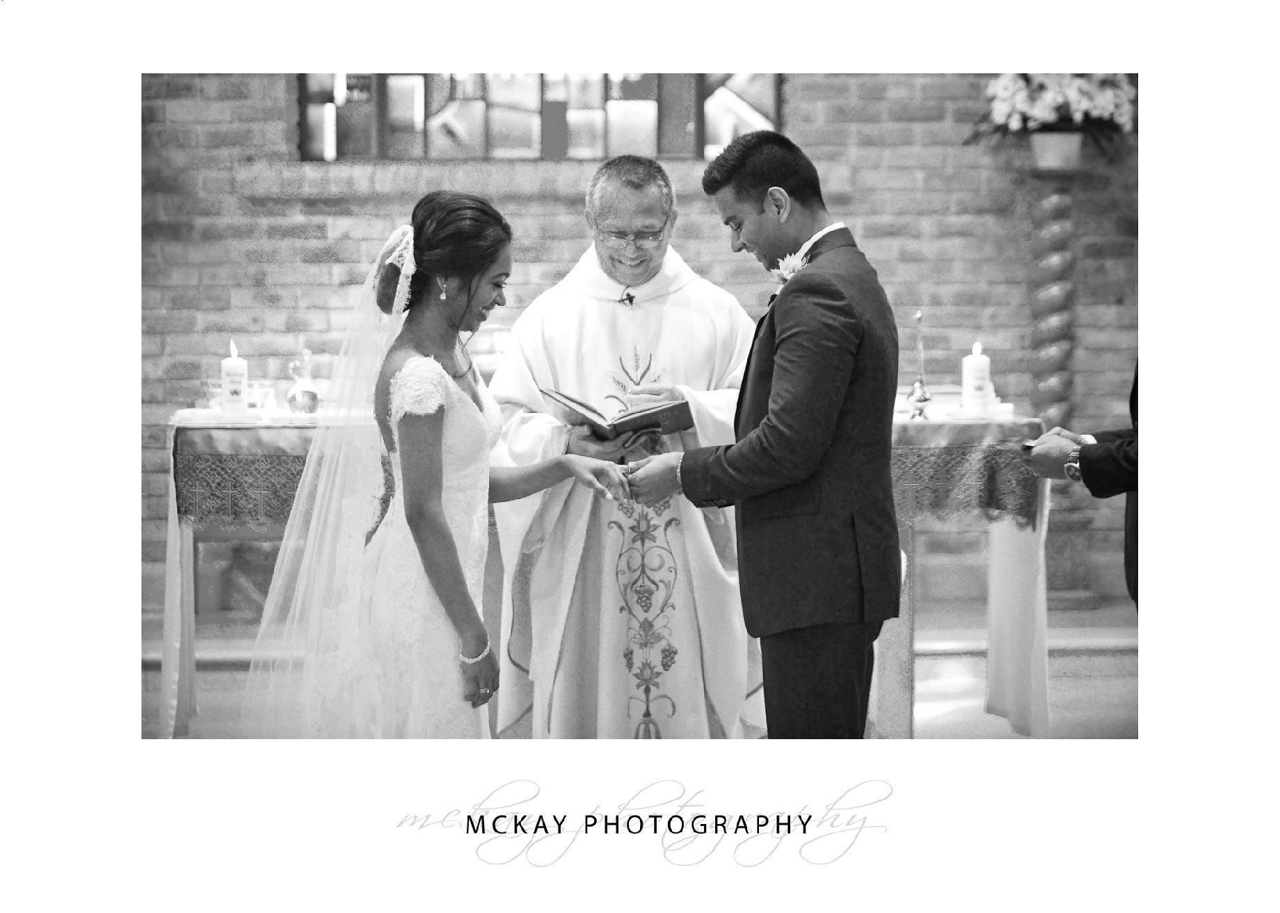 Wedding ceremony photo St Pauls Catholic Church Camden