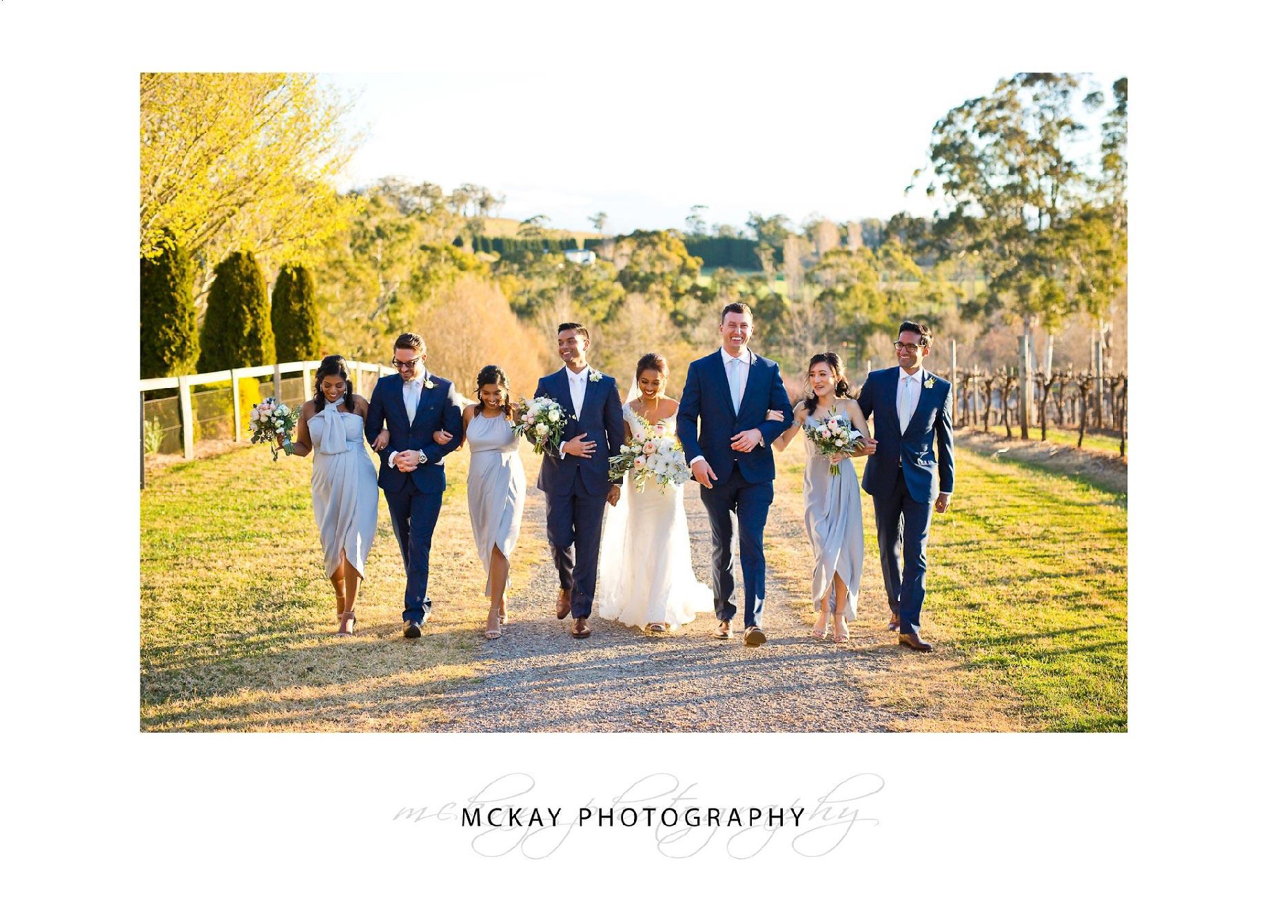 Bridal party at Centennial Vineyards Bowral