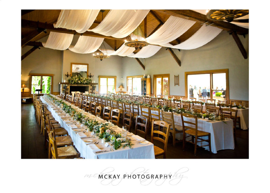 Centennial Vineyards Bowral wedding reception room photo