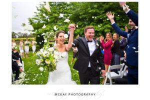 Flowers aisle exit Centennial Vineyards Bowral wedding
