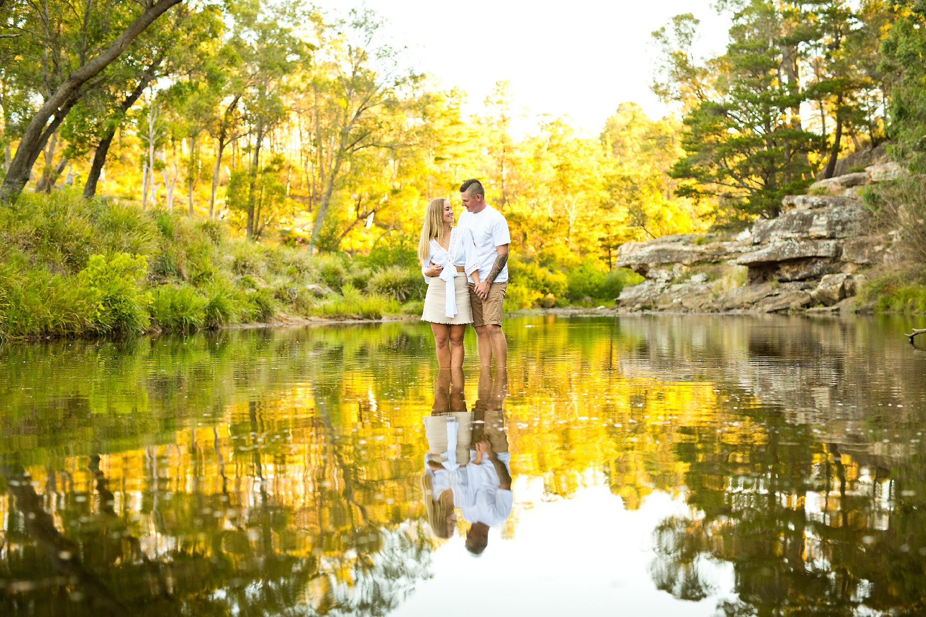 Rochelle Tim engagement photo session Berrima river