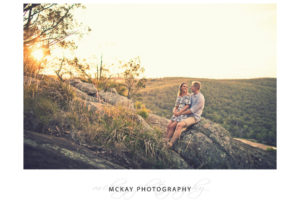 Engagement Photos Sunset Mt Gibraltar Bowral