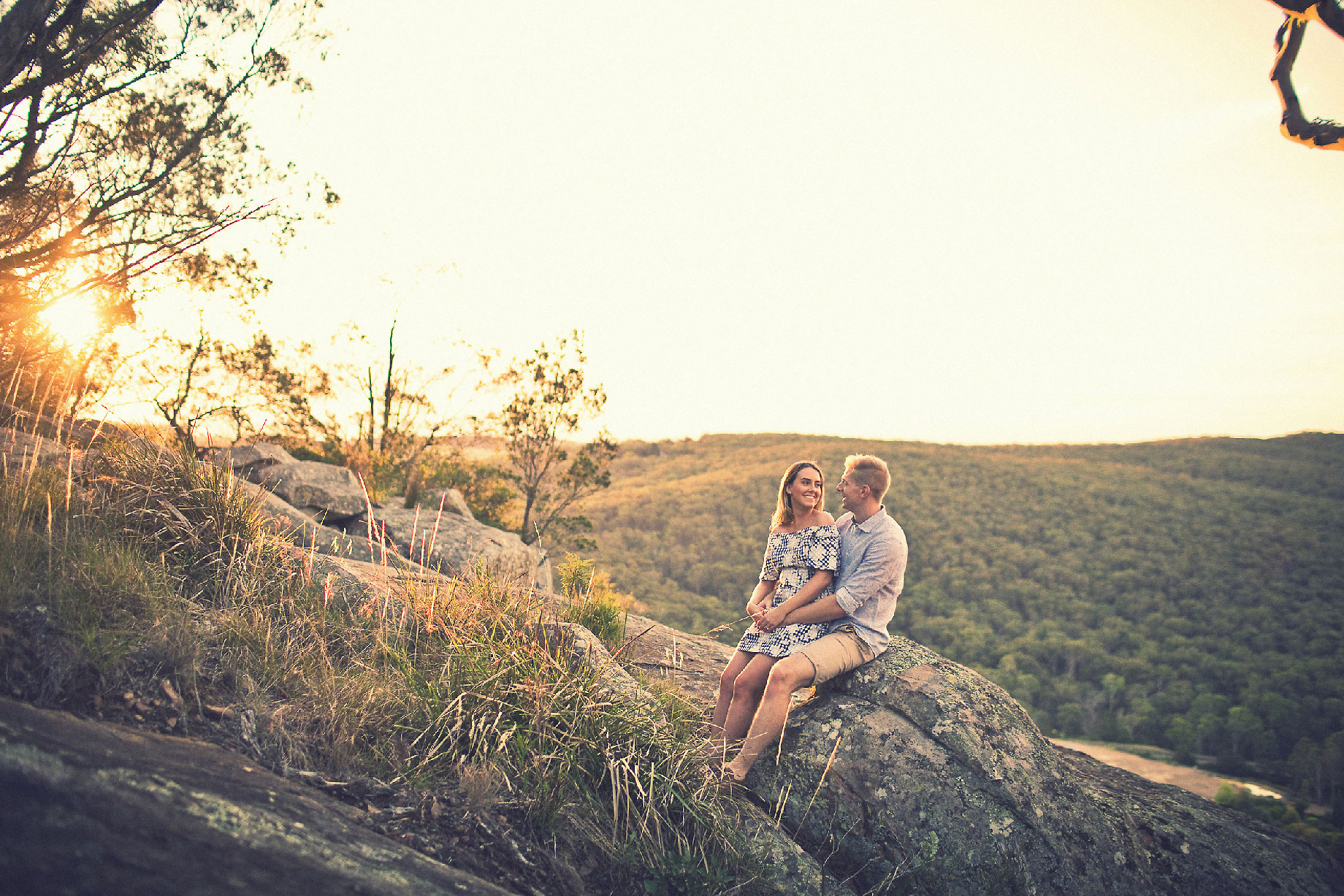 Engagement Photography at Sunset at Mt Gibraltar Bowral
