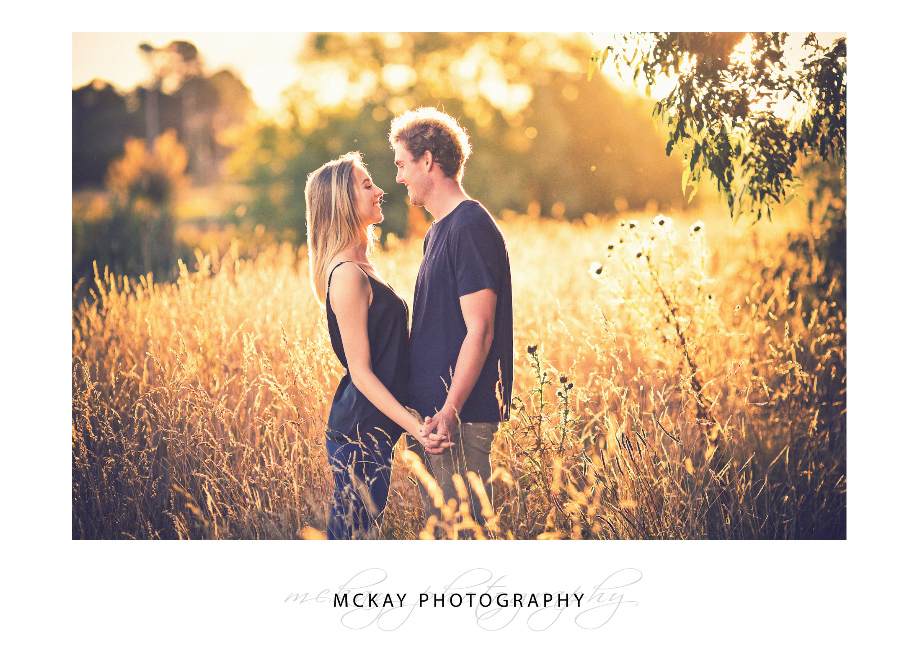 Last sunlight Bowral engagement photography