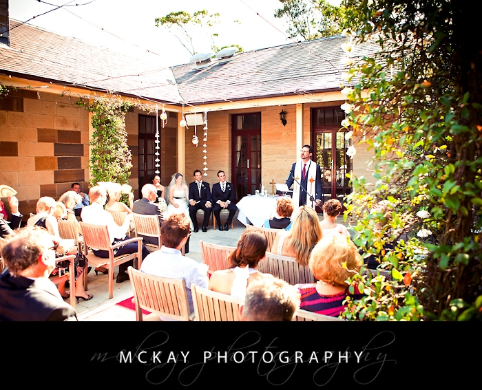 The courtyard at the Barracks is the perfect wedding ceremony setting