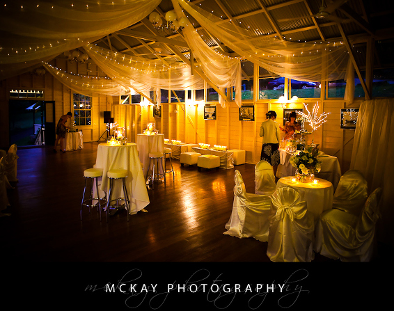 Athol Hall wedding interior