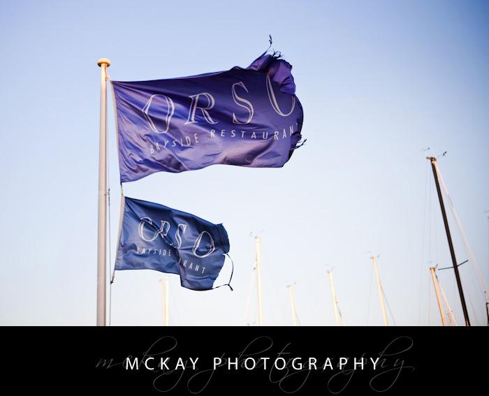 Orso wedding venue flags