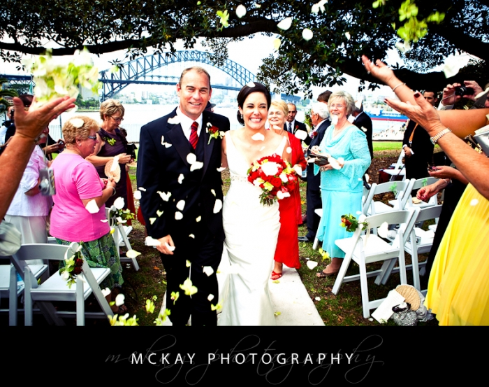 Wedding ceremony Botanic Gardens Sydney