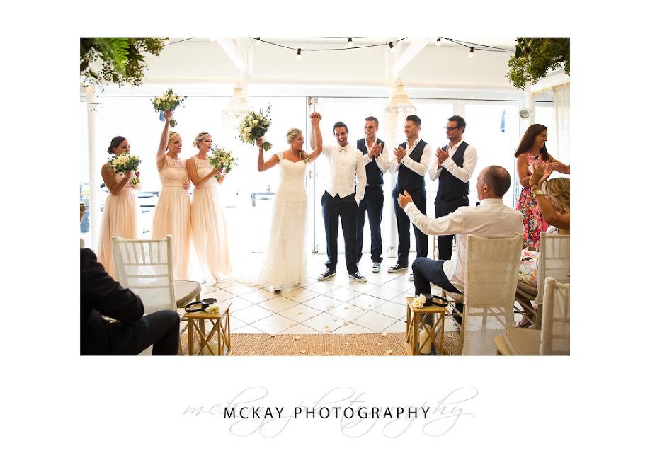 Indoor ceremony wedding Jonahs