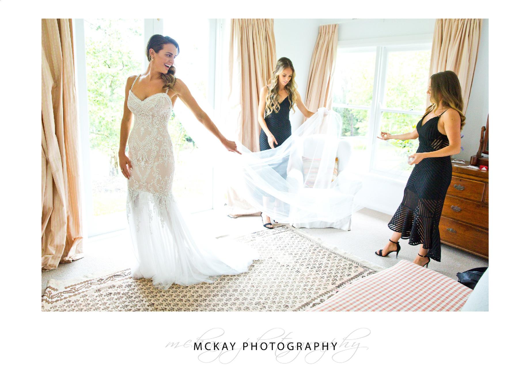 Ali getting ready wedding