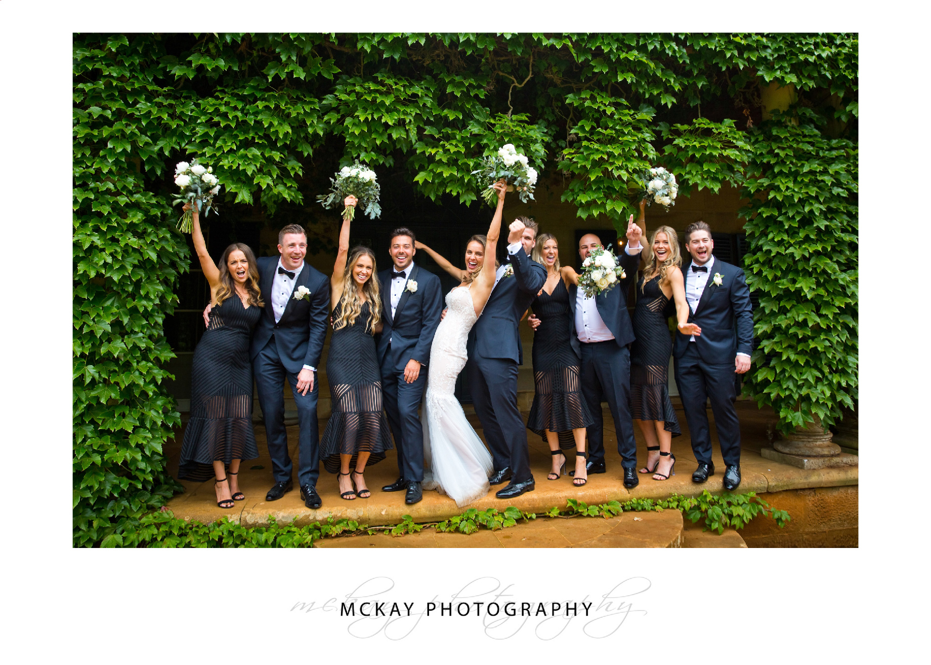 Bridal party at Bendooley