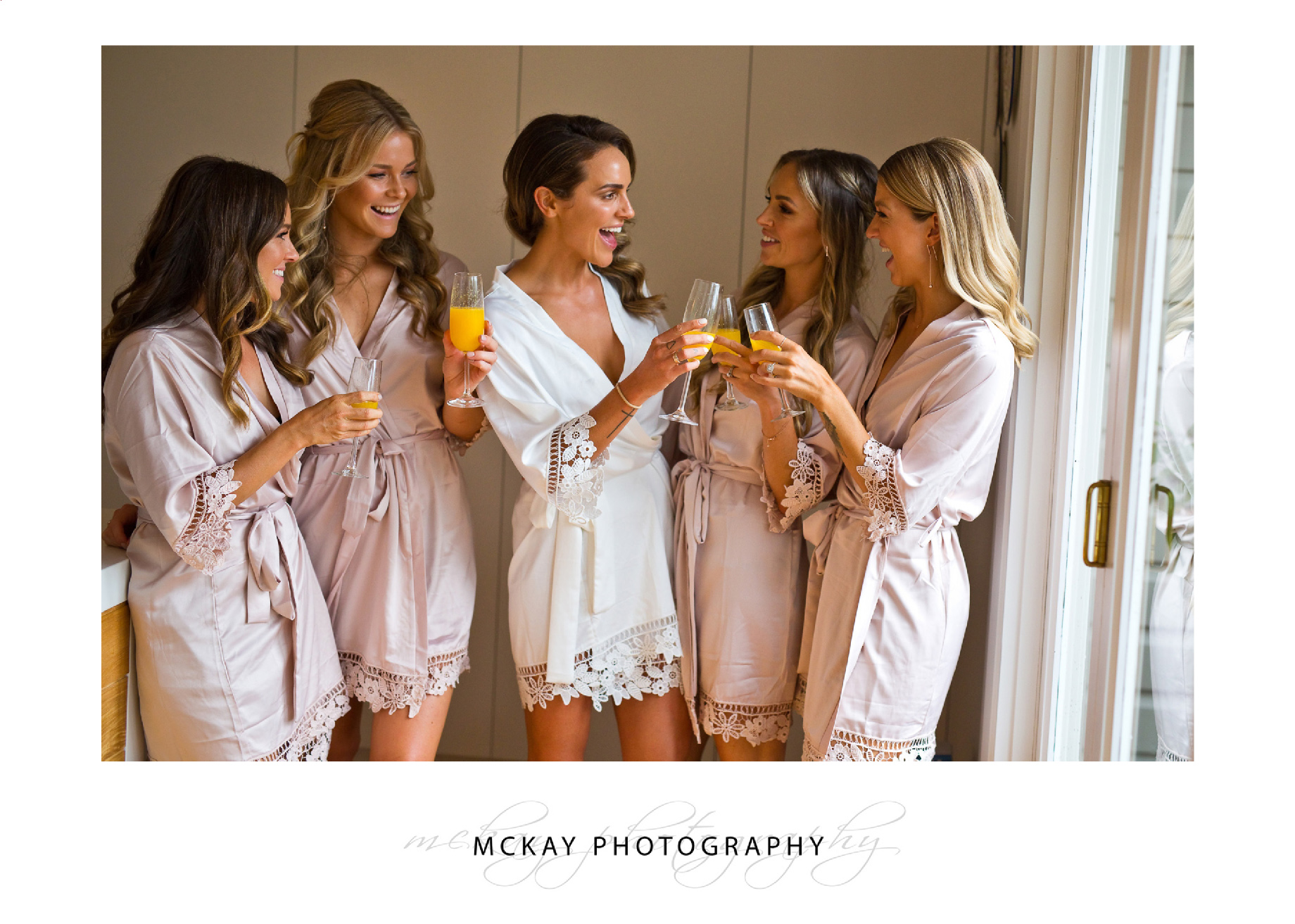 Ali and bridesmaids get ready for the wedding