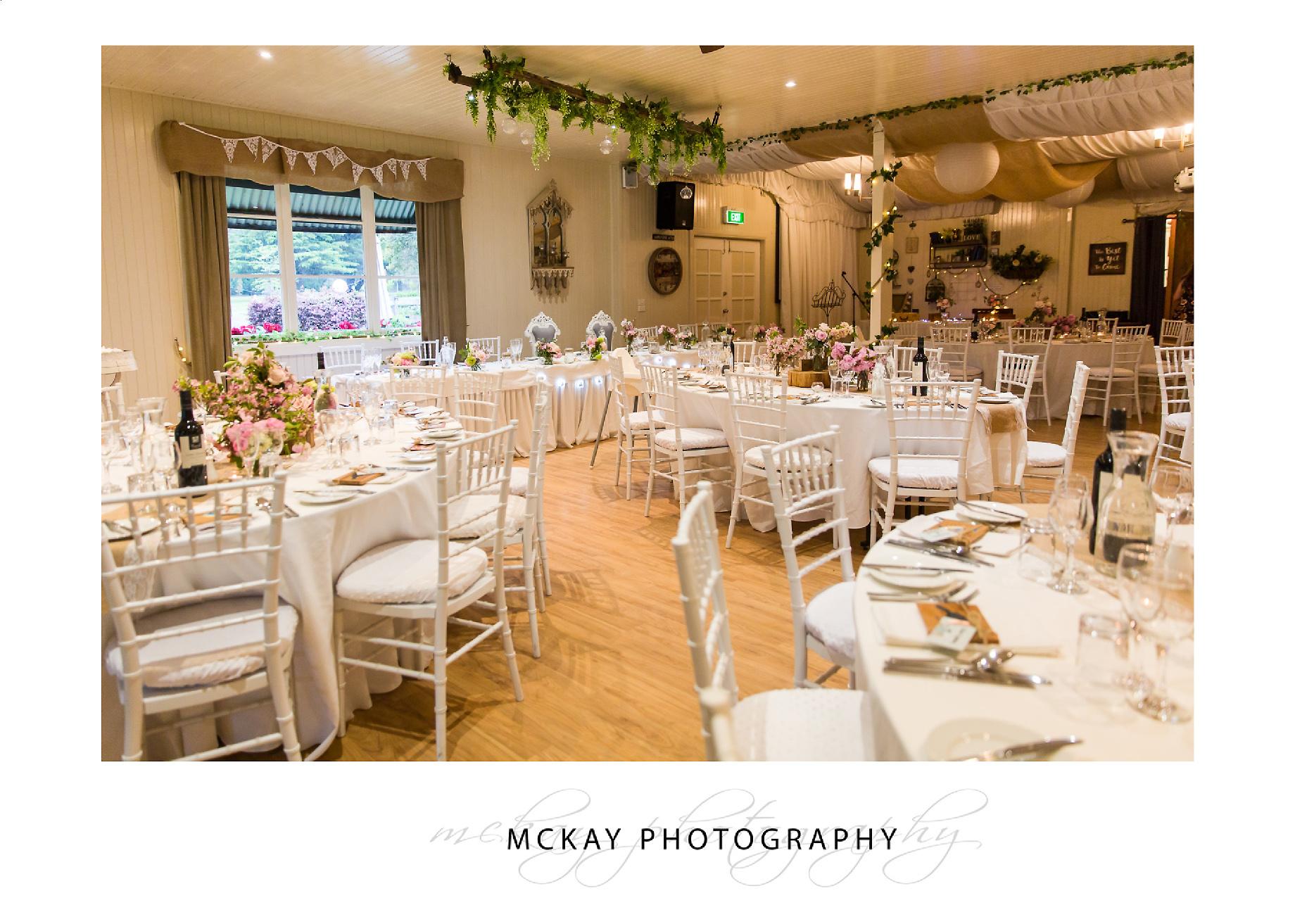 The main reception room at Sylvan Glen