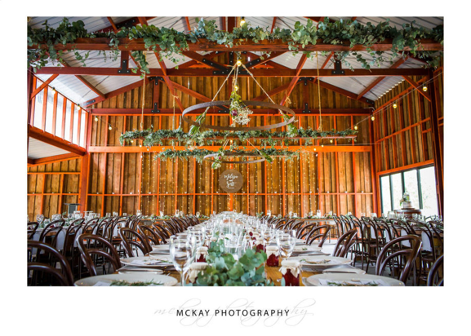 The stunning wedding room at the Barn at Leeston