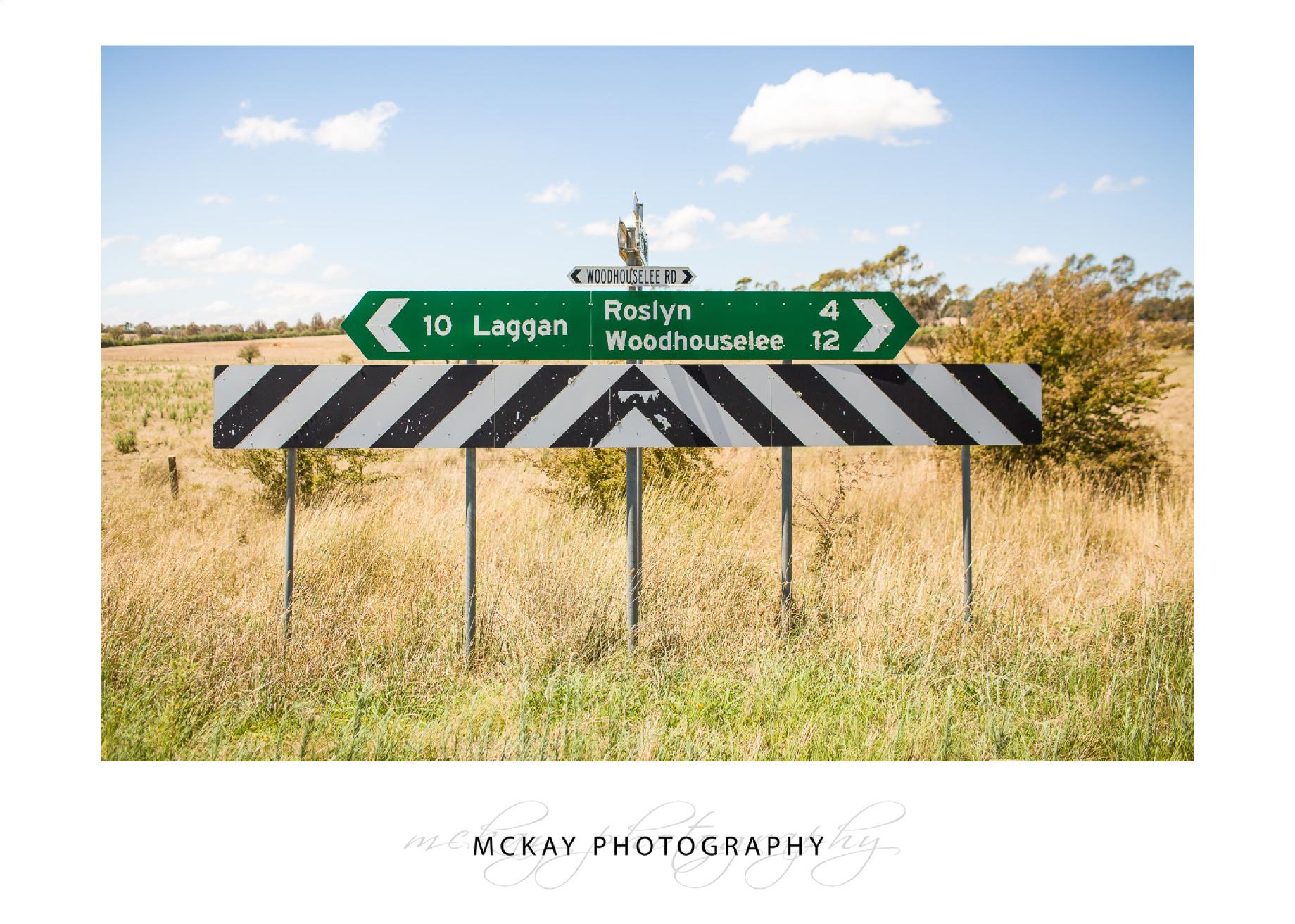 Road sign to the Barn at Leeston