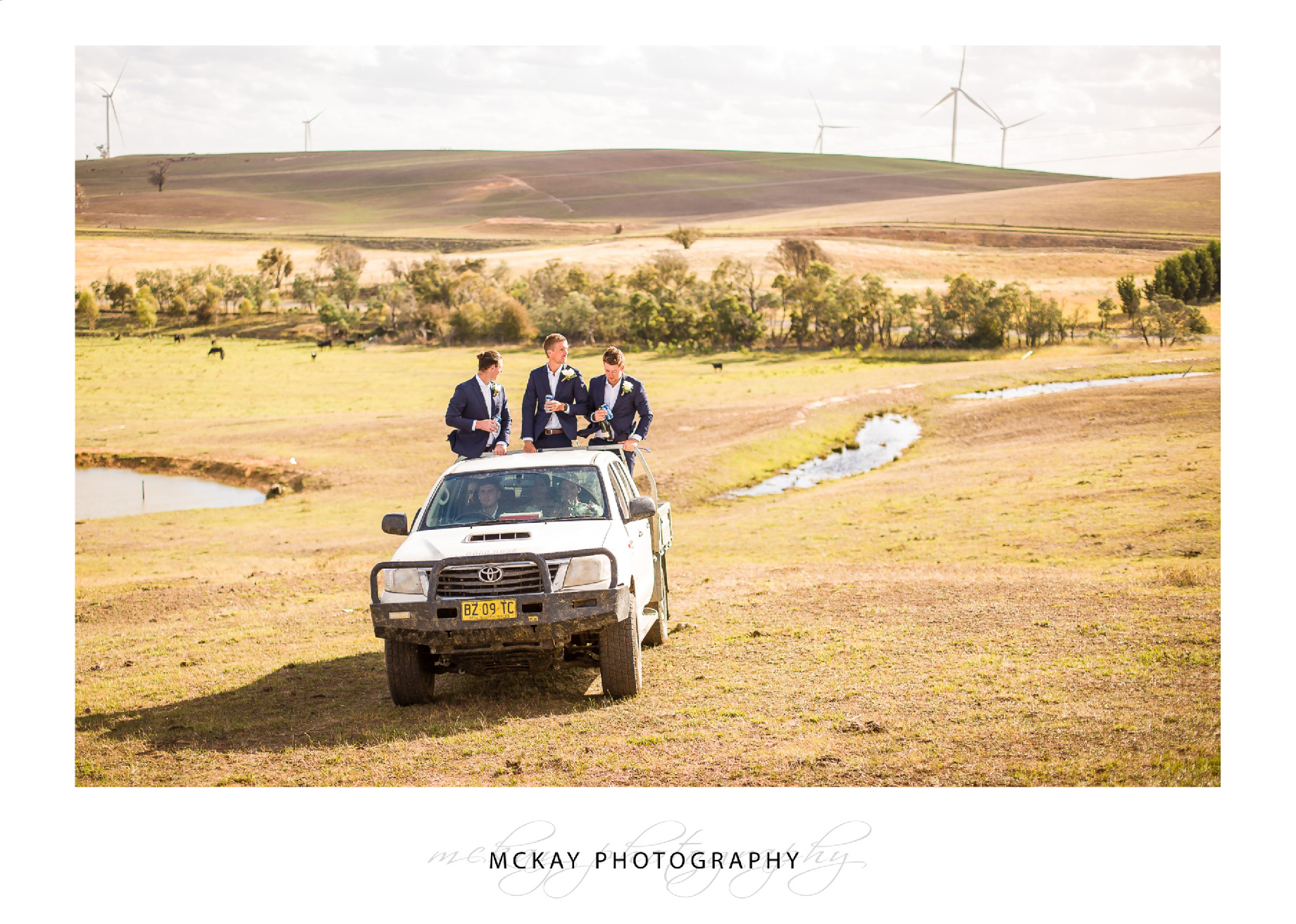 Boys in the back of the ute