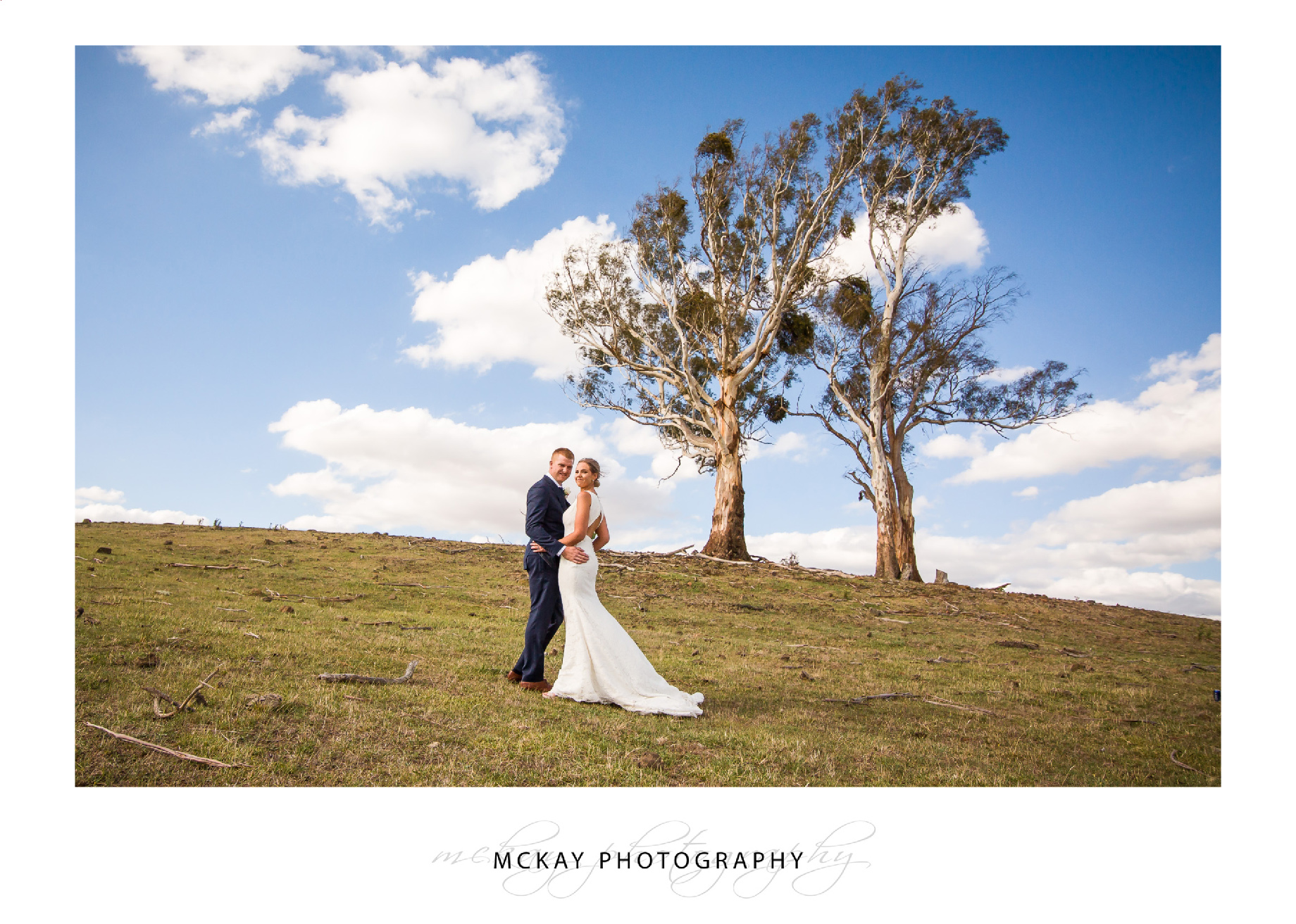 Gum trees country farm wedding Crookwell