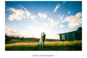 The Barn at Leeston sunset photo country farm wedding