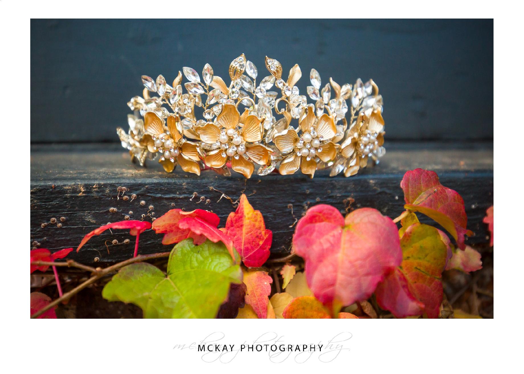 Hair crown bride gold