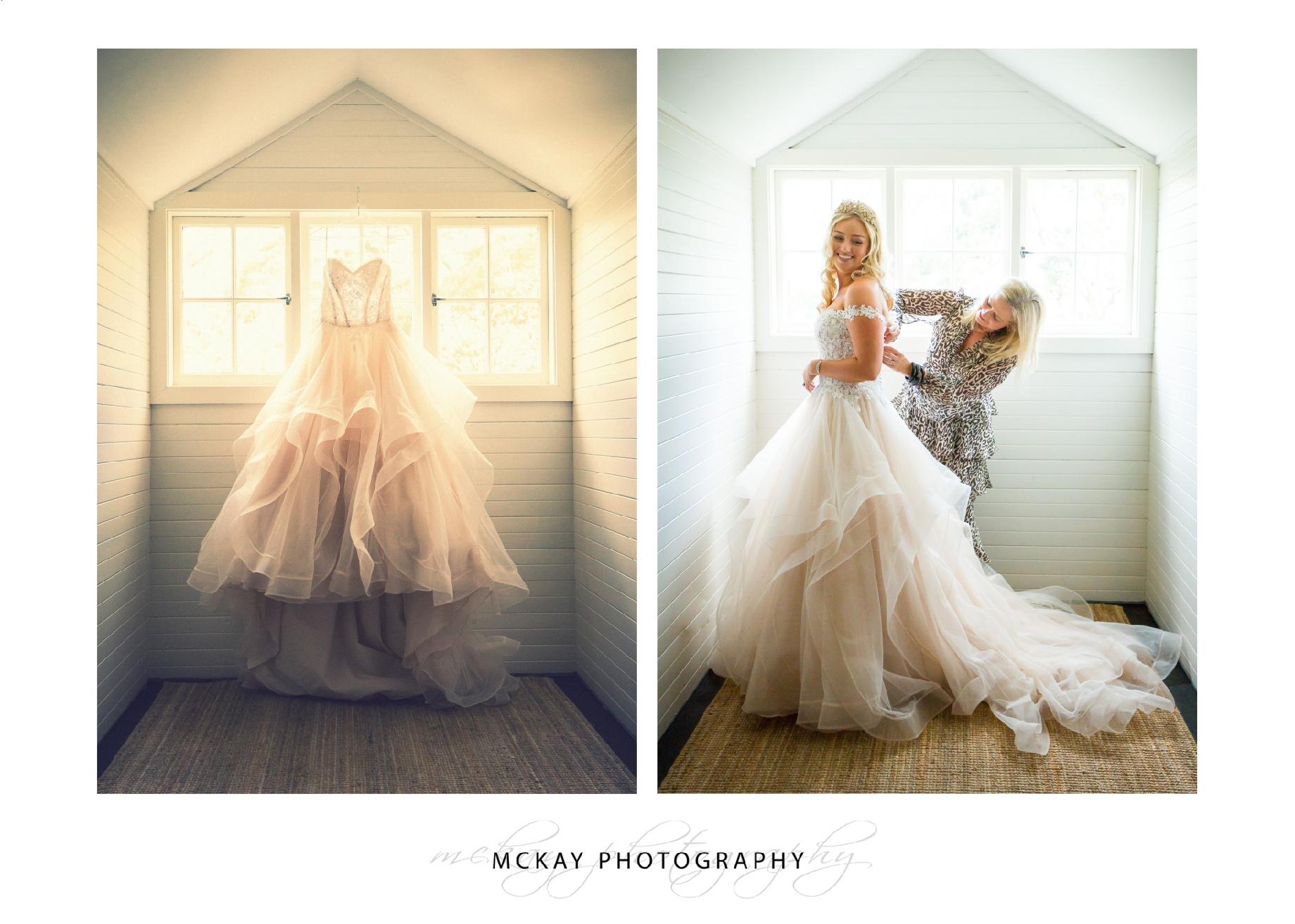 Bride dress preparations