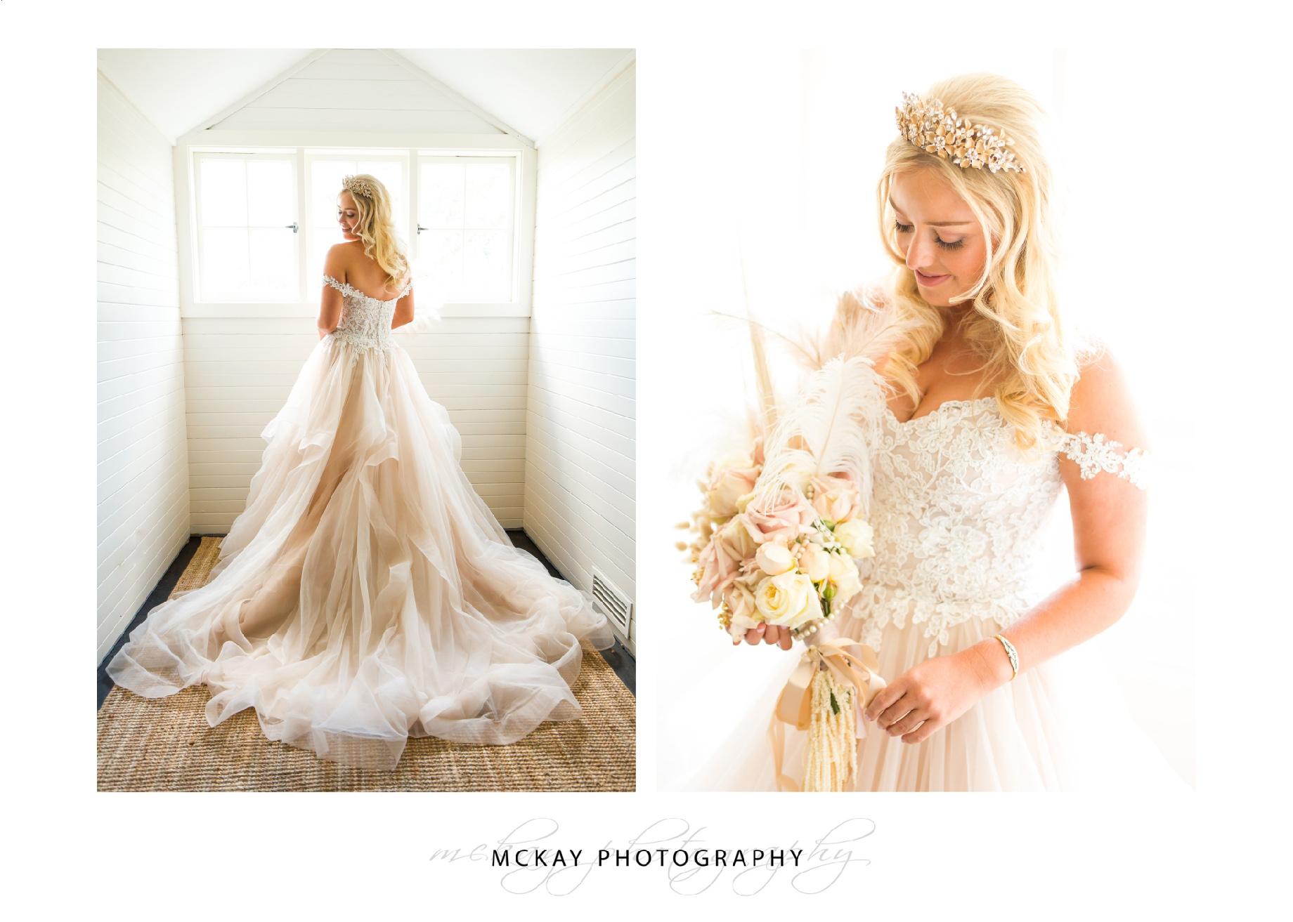 Bride photos Coach House Milton Park wedding