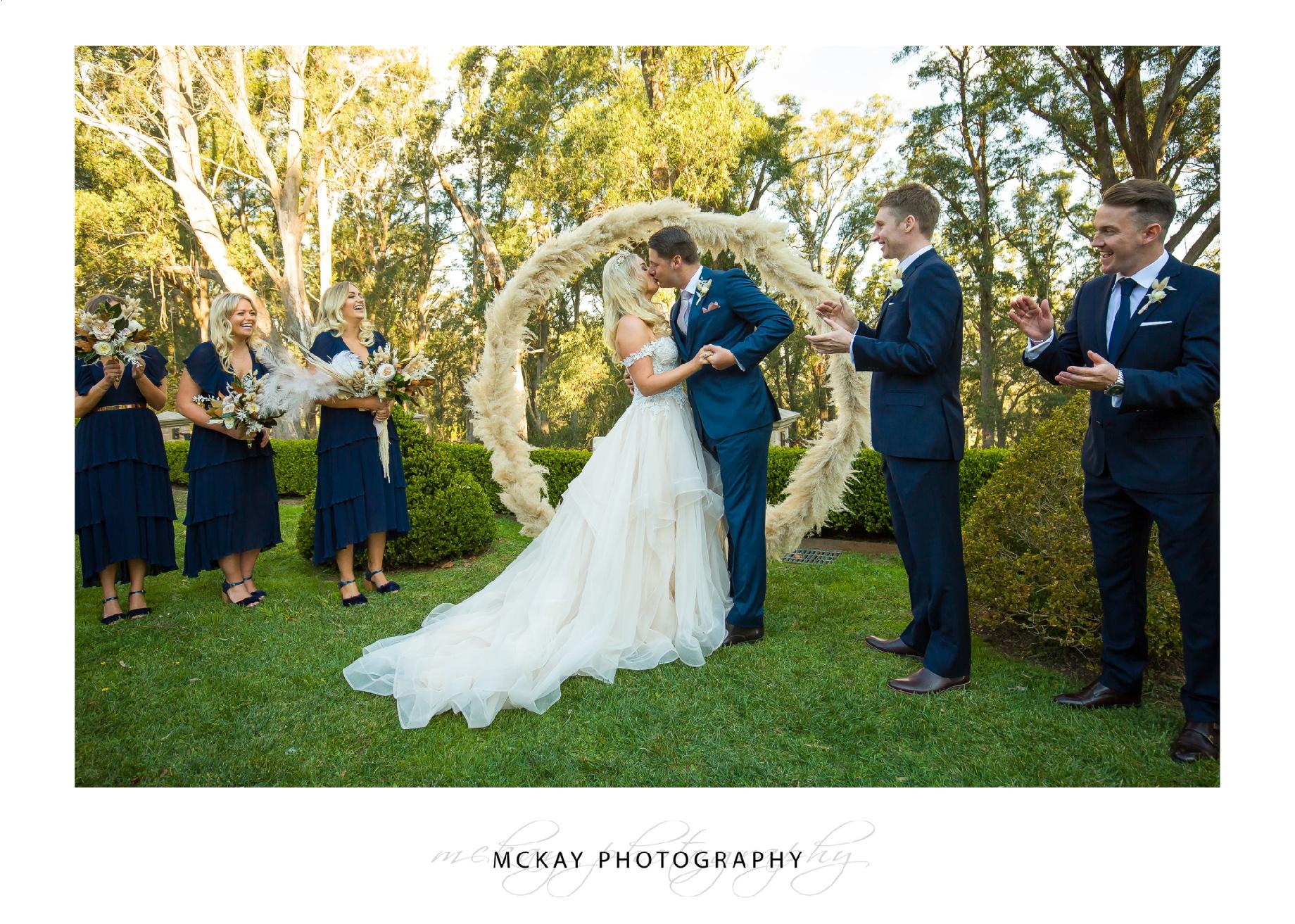 Outdoor wedding Coach House Milton Park