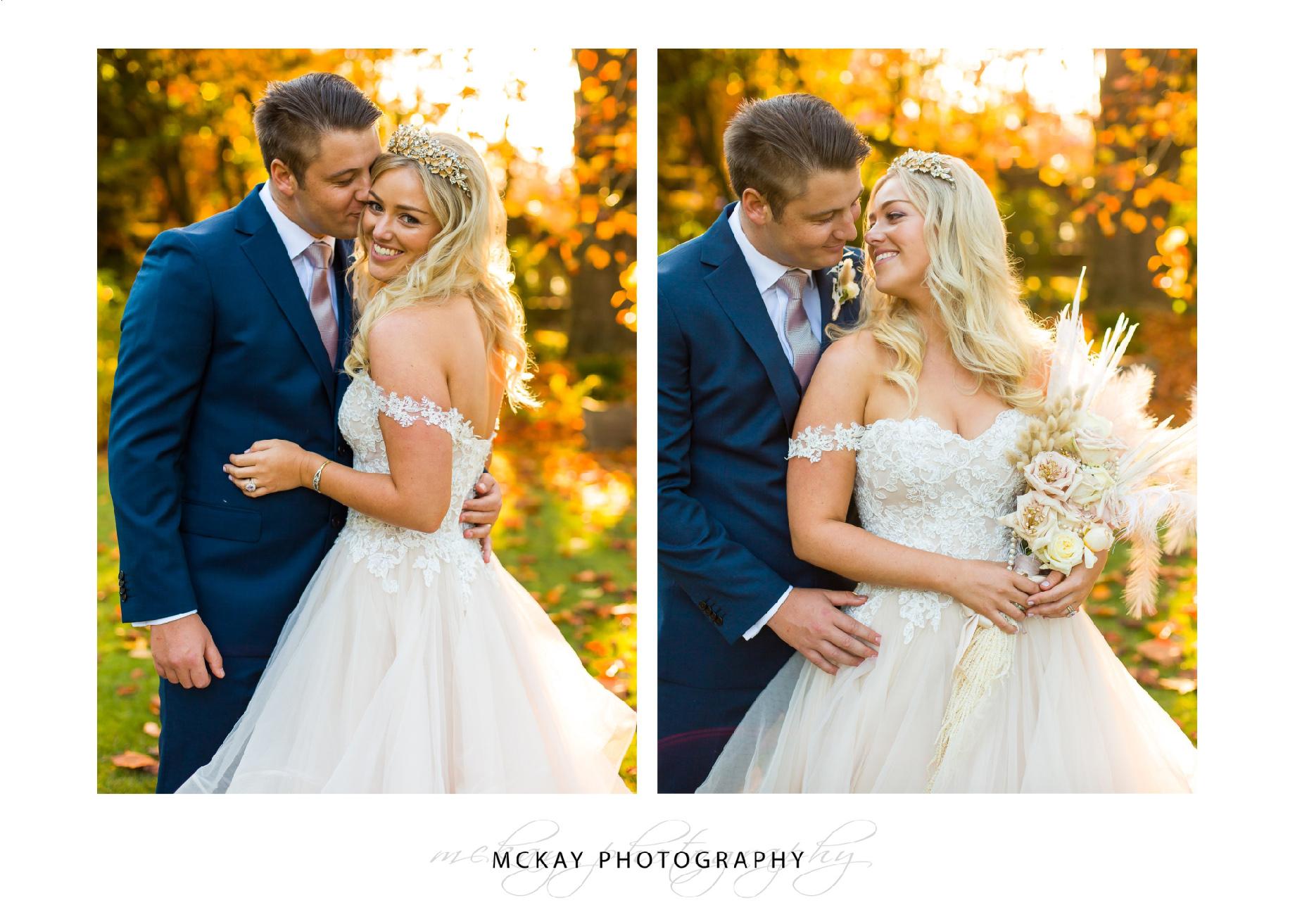 Autumn wedding Milton Park
